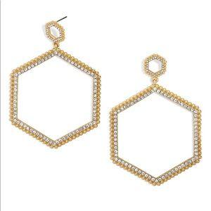 BaubleBar Hexagonal Hoop Earrings